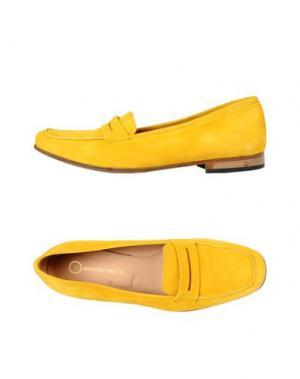 Мокасины LEONARDO PRINCIPI. Цвет: желтый
