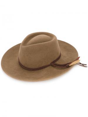 Шляпа с плетеной лентой Sensi Studio. Цвет: коричневый