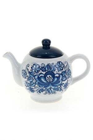 Чайник, 950 мл Polystar. Цвет: белый, синий
