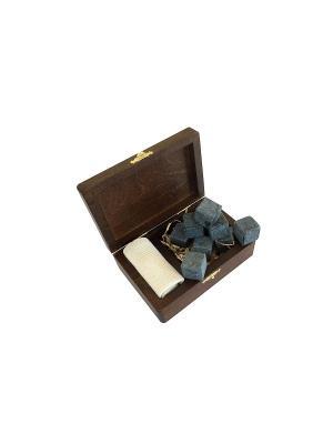 Камни для вискиRoyal в деревянной упаковке ESW-09 Экспедиция. Цвет: серый