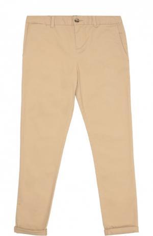 Хлопковые брюки прямого кроя Polo Ralph Lauren. Цвет: хаки