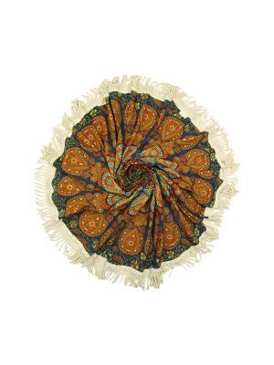 Покрывало круглое диаметр 150 см ETHNIC CHIC. Цвет: зеленый