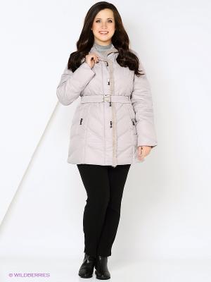 Куртка MOHNASS. Цвет: бледно-розовый, кремовый