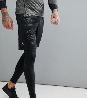 First Черные шорты Training. Цвет: серый