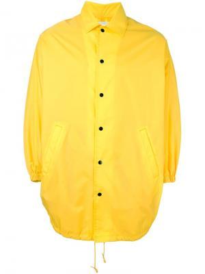 Куртка-пончо Ganryu Comme Des Garcons. Цвет: жёлтый и оранжевый