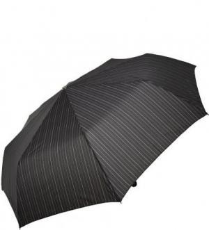 Складной зонт с пластиковой ручкой Doppler. Цвет: черный