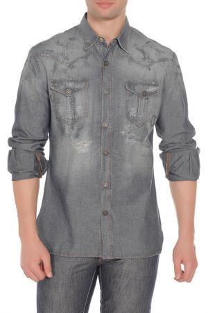 Рубашка Galliano. Цвет: синий
