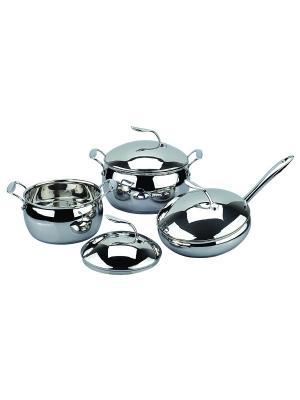Набор посуды 3,6л/5,8л/ сковорода 3,2л. RAINSTAHL. Цвет: серебристый