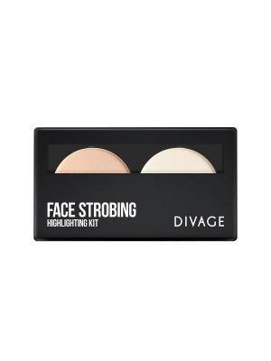 Divage Палетка - Face strobing. Цвет: антрацитовый