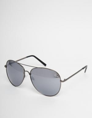 Quay Australia Солнцезащитные очки-авиаторы Flagship. Цвет: черный