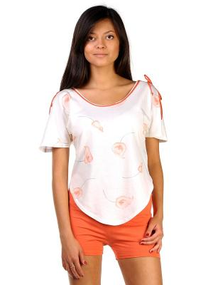 Пижама Тефия. Цвет: оранжевый, зеленый, кремовый