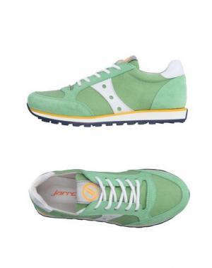 Низкие кеды и кроссовки JARRETT. Цвет: светло-зеленый