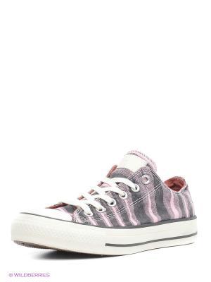 Кеды Converse. Цвет: бледно-розовый, серый