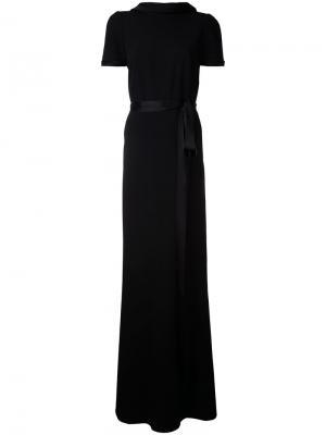 Вечернее платье с короткими рукавами Paule Ka. Цвет: чёрный