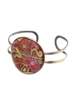 Браслет Clara Bijoux. Цвет: светло-зеленый, красный, малиновый