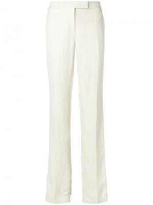 Классические брюки прямого кроя Tom Ford. Цвет: белый