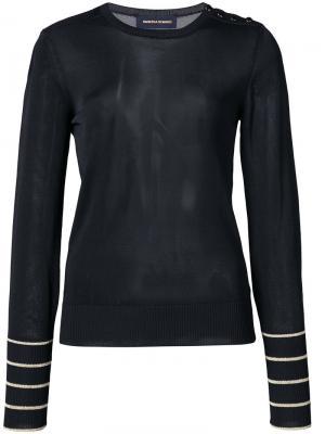 Блузка с пуговичной отделкой Vanessa Seward. Цвет: чёрный