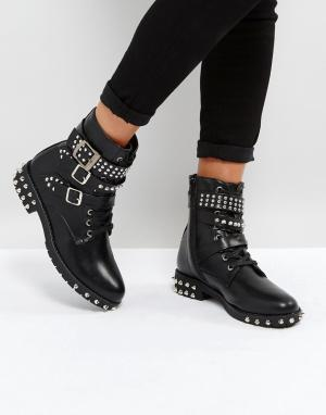 Park Lane Ботинки с заклепками. Цвет: черный