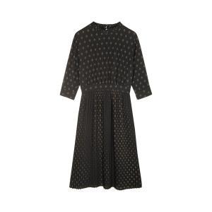Платье плиссированное с рисунком ARKADELPHIA SESSUN. Цвет: черный