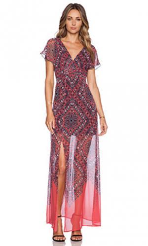Макси платье Twelfth Street By Cynthia Vincent. Цвет: коралл