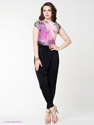 Комбинезон МадаМ Т. Цвет: черный, розовый, фиолетовый