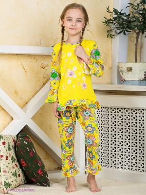 Пижама Хох. Цвет: зеленый, голубой, желтый