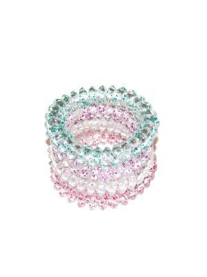 Резинки спиральки, 4 шт Lola. Цвет: прозрачный, голубой, розовый