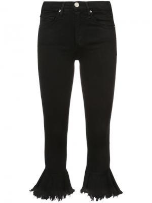 Укороченные брюки клеш Mcguire Denim. Цвет: чёрный