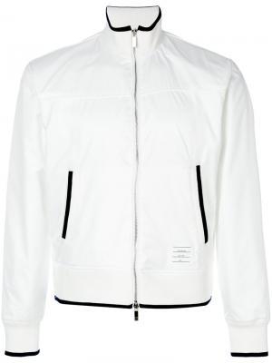 Спортивная куртка на молнии Thom Browne. Цвет: белый
