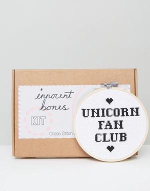 Innocent Bones Набор для вышивания крестиком Unicorn Fan Club. Цвет: мульти