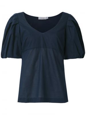 Блузка с объемными рукавами Isolda. Цвет: синий