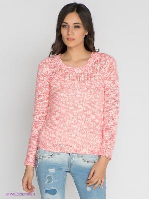 Джемпер Vero moda. Цвет: коралловый, молочный