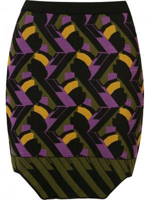 Geometric knit fitted skirt Gig. Цвет: чёрный