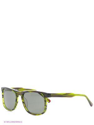 Очки солнцезащитные Replay. Цвет: зеленый, серый
