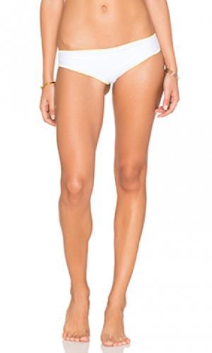 Дерзкие плавки бикини с прошивкой по краям buttercup lolli swim. Цвет: белый