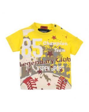 Футболка ASPEN POLO CLUB. Цвет: желтый