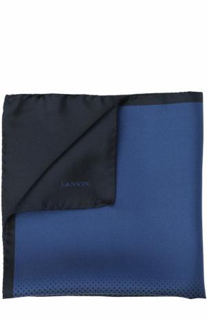 Шелковый платок Lanvin. Цвет: темно-синий