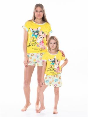 Пижама для мамы КВК. Цвет: желтый