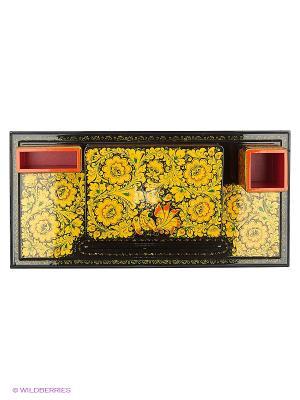 Набор канцелярский семин Р17 (58х23х9,5) Сувенир Сувенирыч. Цвет: черный, красный, золотистый