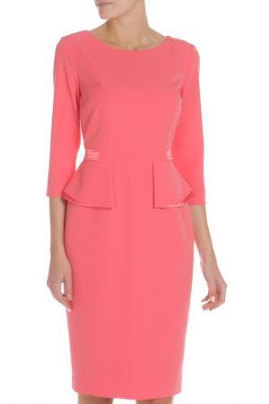 Полуприлегающее платье с рукавами 3/4 Evita. Цвет: sugar, розовый