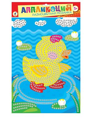 Разноцветная мозаика. Уточка Дрофа-Медиа. Цвет: голубой, желтый