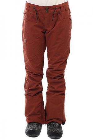 Штаны сноубордические женские DC Viva Pant Burnt Henna Shoes. Цвет: красный