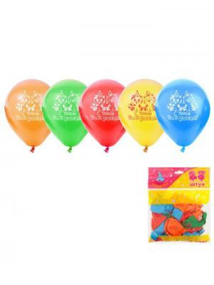 Набор воздушных шаров А М Дизайн. Цвет: светло-зеленый, голубой, желтый, красный, оранжевый