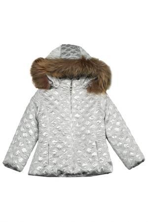 Куртка VIADELLEPERLE VDP. Цвет: camp, sсеребристый