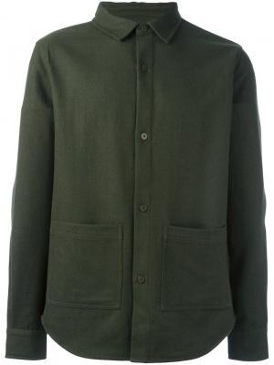 Классическая рубашка Han Kjøbenhavn. Цвет: зелёный