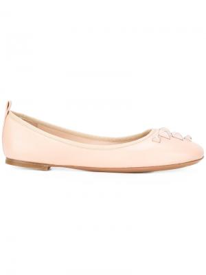 Балетки Cleo с заклепками Marc Jacobs. Цвет: розовый и фиолетовый