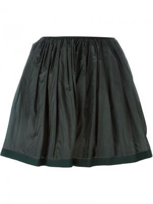 Плиссированная юбка Arthur Arbesser. Цвет: зелёный