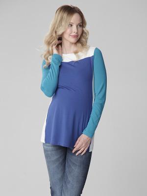 Туника Mamita. Цвет: синий, бирюзовый, молочный