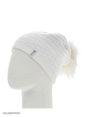 Прадо Беркле шапка женская с помпоном Berkle. Цвет: белый