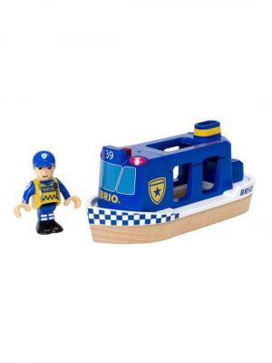 Игровой набор Полицейский катер,2 эл.,свет,звук,19х7х10см,кор. BRIO. Цвет: прозрачный